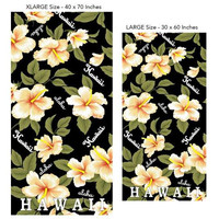 Yellow Hibiscus Aloha Beach Towel