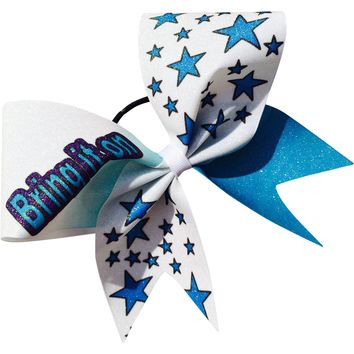 Bring it on glitter bow with stars.