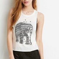 Elephant Graphic Muscle Tee