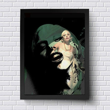 Lady Gaga American Horror Story Wall Art  | Lisa Jaye Art Designs