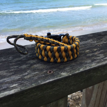 Honey Comb with Key Fob- Trilobite Paracord Survival Bracelet with Emergency Whistle Buckle