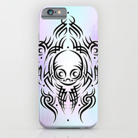 Alien Tribal Tattoo iPhone & iPod Case by Chobopop
