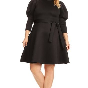 Maxi Short Dress 3/4 Sleeve Plus Size