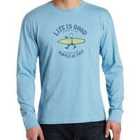Life is good Men's Crusher Simple Surf Long Sleeve T-Shirt, XX-Large, Bold blue