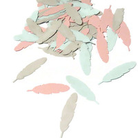tribal baby shower decorations, feather confetti. made in 3-5 weekdays, boho wedding, bridal shower, gender reveal, 100 CT