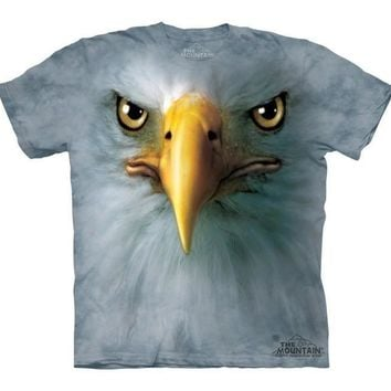 Eagle Face T-Shirt Wild Animal Bird of Prey Bald American Tee