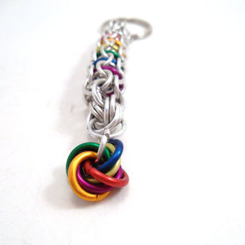 Chainmail Keychain Rainbow Captive Inverted by SerenityInChains