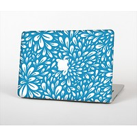 "The Light Blue & White Floral Sprout Skin Set for the Apple MacBook Pro 13"" with Retina Display"