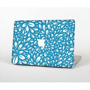 The Light Blue & White Floral Sprout Skin Set for the Apple MacBook Air 13""