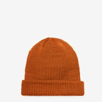 Brushed Basic Beanie in Rust