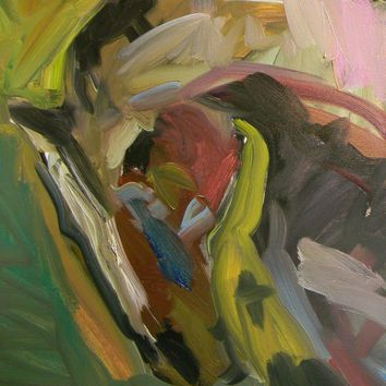 JOSE TRUJILLO Abstract OIL PAINTING 20X16 HORSE EQUESTRIAN PORTRAIT PICTURE ART