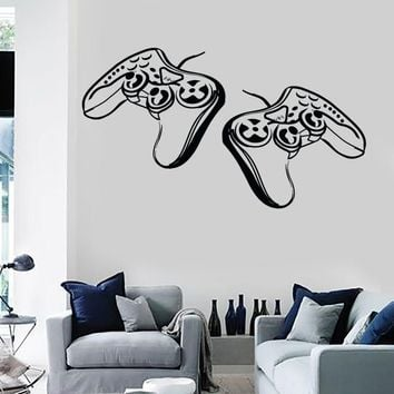 Wall Stickers Vinyl Decal Video Games Joysticks Gamer Playstation Decor Unique Gift (z2214)
