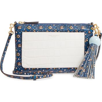 Tory Burch Tassel Print Leather Crossbody Bag | Nordstrom