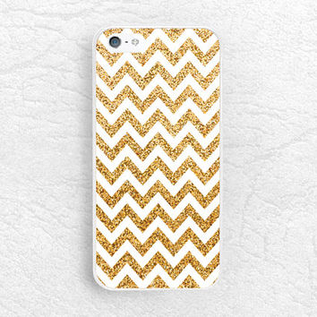 Gold Glitter Chevron phone case for iPhone 6 iPhone 5 5c, Sony z1 z2 z3, LG g2 g3 nexus 6, HTC one m7 m8, Moto x Moto g, Samsung Note 4 -P4