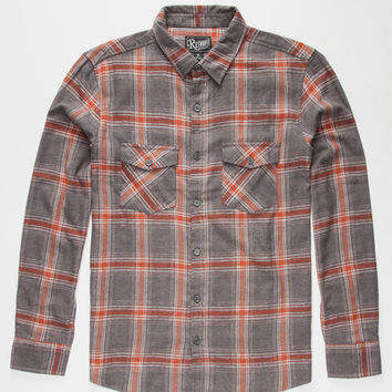 Retrofit Memphis Mens Flannel Shirt Charcoal  In Sizes