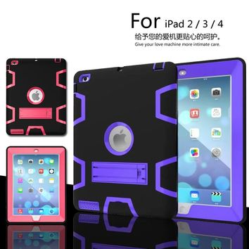luxury Heavy Duty Shockproof Hybrid Rubber Rugged Hard Impact Protective Skin Shell Case for iPad 2/3/4 Case EVA