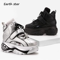 EARTH STAR New Presale Shoes Women Brand Platform Sneakers Lady chaussure Autumn Female footware Breathable Girl Increase Shoes