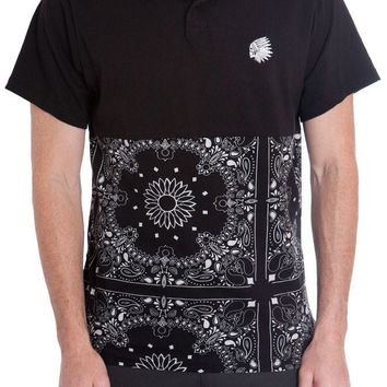 Black Bandana Polo Shirt