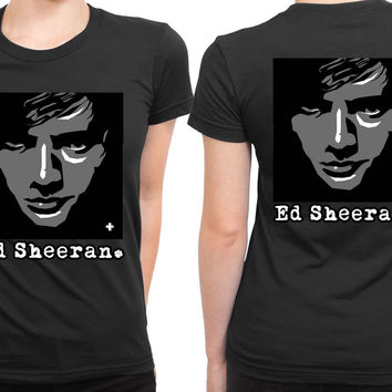 Ed Sheeran Face Netherland 2 Sided Womens T Shirt