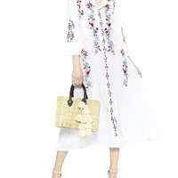 Elin Embroidered Floral Tunic Dress