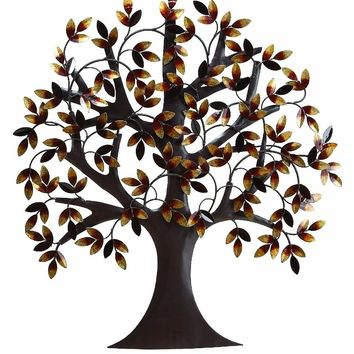31 Inch Classic Metal Tree Life Wall Art Decor