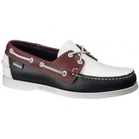 Spinnaker Boat Shoes in Navy/White/Red by Sebago