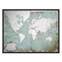 Uttermost Mirrored World Map - 30400