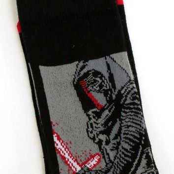 CREYV2S MENS DISNEY STAR WARS KYLO REN BLACK SOCKS SIZE 6-11