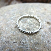 Rope Toe Ring. Sterling silver ring.
