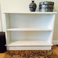 White bookshelf-solid wood