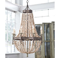Regina Andrew Scalloped Wood Bead Chandelier - 405-265