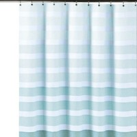 DKNY Highline Stripe Cotton Shower Curtain