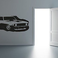 American Muscles Drag Hot Rod Antique Ride Hot Garage Mancave Decor Sticker R030