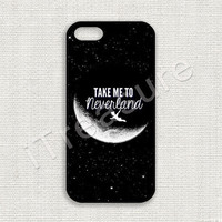 iPhone 5 Case, iPhone 5s Case, iPhone 5 Cover, iPhone 5s Cover, Hard iPhone Case, Take Me To Neverland