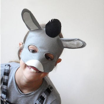 Kids Donkey Mask for Carnival and Nativity Play by BHBKidstyle