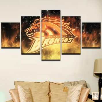 Decor Pictures Vintage Home Decor Painting On Canvas PENGDA 5 Panel Sport Rugby Football Prints Wall Art Pictures Drop Shipping