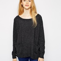 Vero Moda Long Sleeve Oversize Sweater - Asphalt