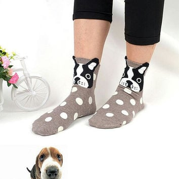 10% OFF (Code: PEPA10) Boots socks,Cute dog print socks, crazy socks, animal face cute socks animal print cozy