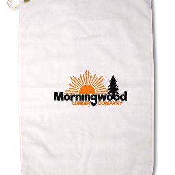 "Morningwood Company Funny Premium Cotton Golf Towel - 16"" x 25 by TooLoud"