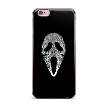 "BarmalisiRTB ""The Scream Tree"" Black White iPhone Case"