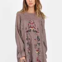 Everlasting Floral Embroidered Dress