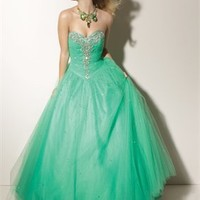 Ball Beaded Sweetheart Neckline Tulle Prom Dresses PDM133 -Shop offer 2012 wedding dresses,prom dresses,party dresses for girls on sale. #Category#