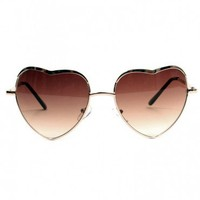 Heart Sunglasses - Gold | GYPSY WARRIOR