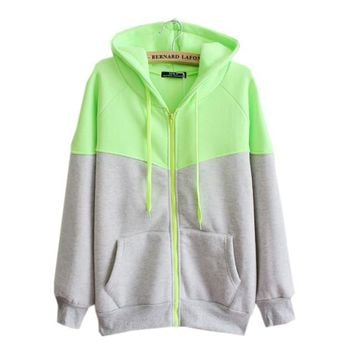 hooded zipper cardigan sweater