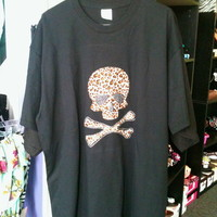 *Plus Size* Leopard skull T-Shirt from PeaceLove&Jewels