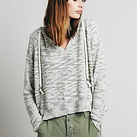 Free People Womens Solid Boxy Hoodie