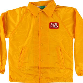 Anti Hero Reserve Patch Coaches Jacket XLarge Yellow
