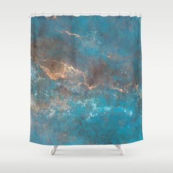 Modern Abstract Shower Curtain by Salome