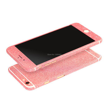 Slim Fit Full Body Glitter Bling Sticker Case For iPhone 6S Strass Coque Luxury Shining Skin Cover For iPhone6 Funda Rose Gold