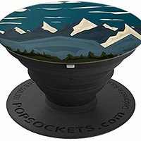 Vintage Mountains of Colorado - Clouds of Morning - PopSockets Grip and Stand for Phones and Tablets